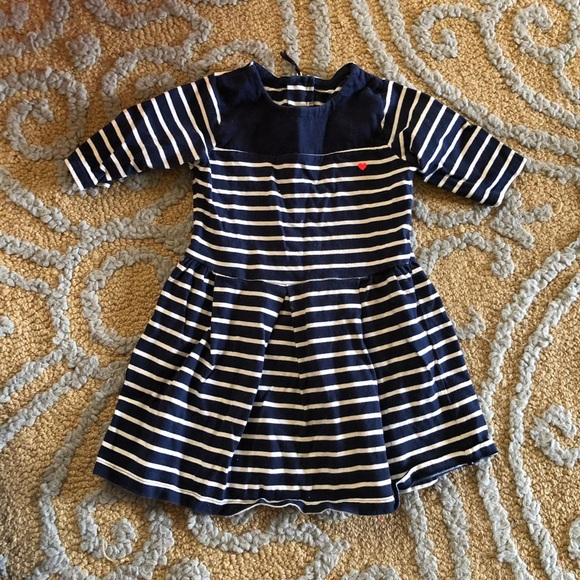 Carter's Other - Carter's striped dress blue and white 3T